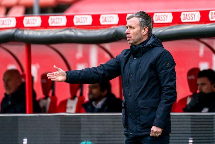 Trainer René Hake van FC Utrecht pakt gemiddeld 1,55 punt per wedstrijd.