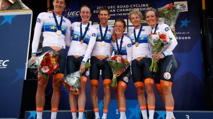 EK WIELRENNEN. Nederland kroont zich op eigen terrein tot eerste Europees kampioen 'Team Relay', België vierde
