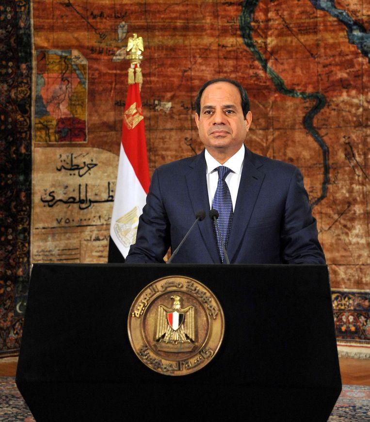 De Egyptische president Abdel Fattah al-Sisi. Beeld ap