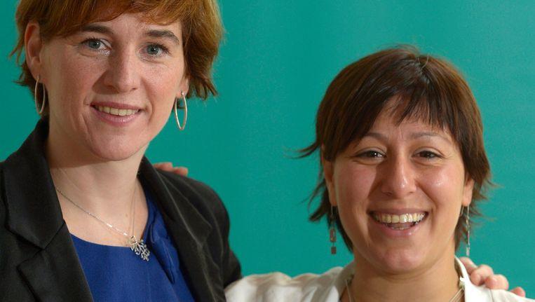 Kandidaat-voorzitters Elke Van den Brandt en Meryem Almaci. Beeld PHOTO_NEWS