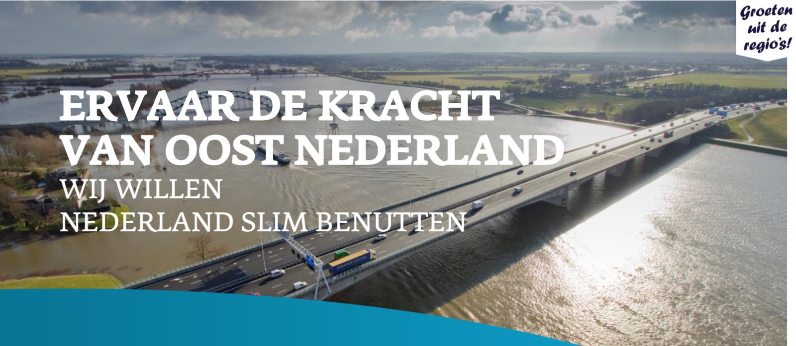 Oost-Nederland begint een lobby in politiek Den Haag.