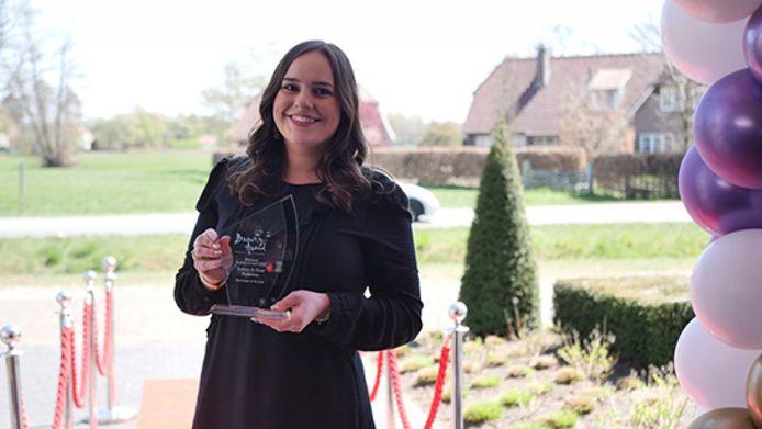 Romee de Boer won de Beauty Award voor Beste Nieuwkomer van Nederland.
