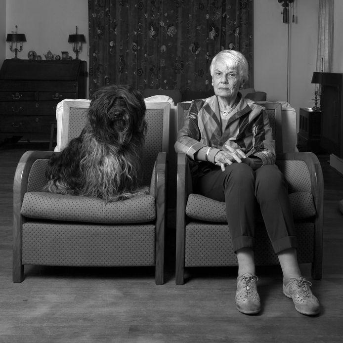 Andrea van der Leek (85) met haar Flipper