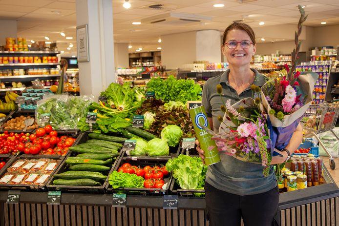 Céline Brugman van Biowinkel Gouda: gezond, lekker en eerlijk aanbod.