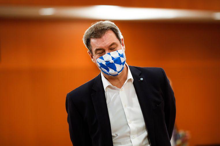 Markus Soeder, minister president van Beieren.  Beeld Getty Images