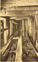 Zo ziet een ondergrondse constructie, gegraven door 'tunnellers', er uit.