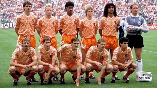 De lichting van 1988, met onder anderen Marco van Basten, Ronald Koeman, Frank Rijkaard en Ruud Gullit.