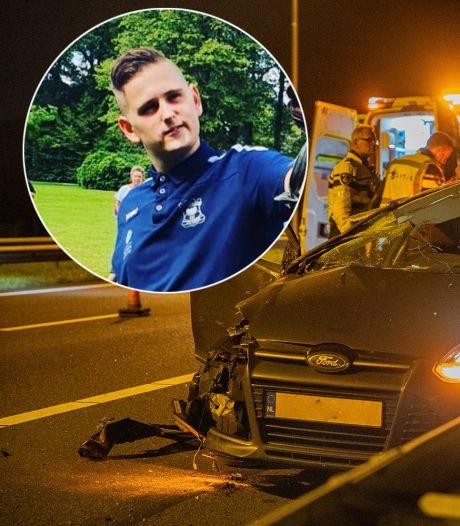 Djordy (20) zat in gecrashte auto op A50 bij Apeldoorn: 'Bloed zit nog op mijn schoenen'