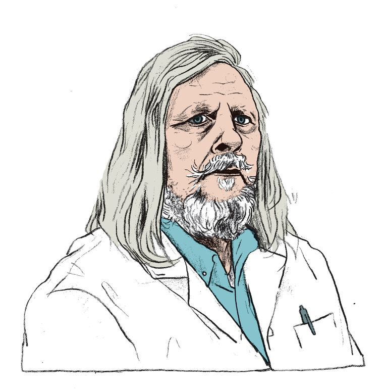 """""""Misschien dat het elders mensen doodt, hier redt het levens"""", zegt Raoult. De mortaliteit onder zijn patiënten is """"de laagste ter wereld"""". Beeld Gijs Kast"""