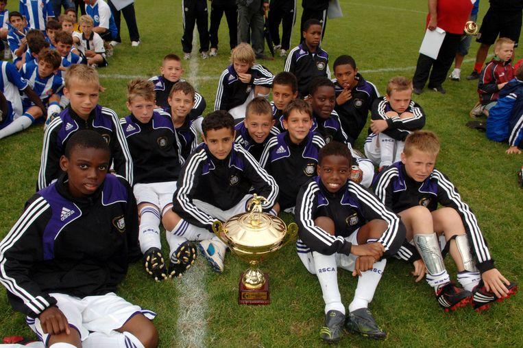 De jeugd van Anderlecht enkele jaren geleden.