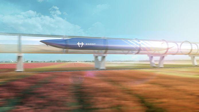 Zo moet de toekomstige testlocatie voor de hyperloop eruit gaan zien.
