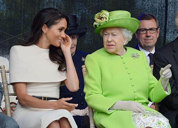 Meghan Markle et la reine Elizabeth II en 2018.