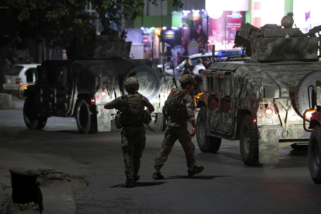 Afghaanse soldaten ter plaatse.