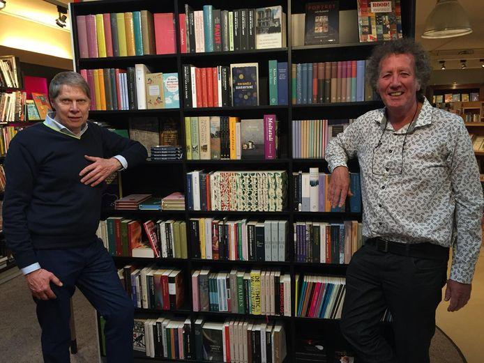 Schrijver Wim Daniëls (links) en verslaggever Jan van Damme