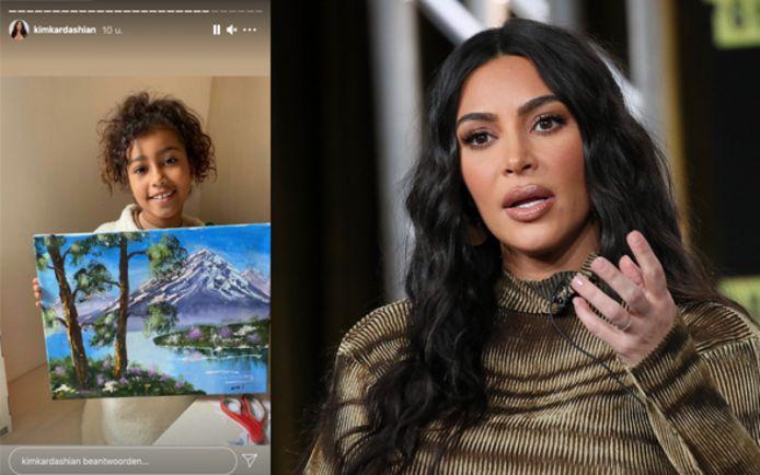 Kim Kardashian neemt het op voor haar dochter