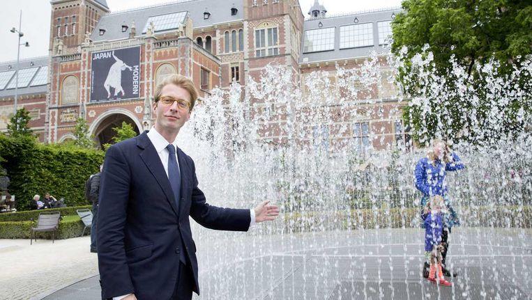 Taco Dibbits, vanaf 15 juli directeur van het Rijksmuseum: 'Ik fietste als jongetje onder het Rijks door en dacht: hier wil ik werken.' Beeld Inge van Mill / ANP