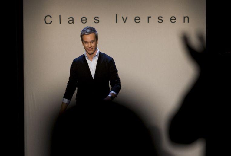 Claes Iversen neemt het slotapplaus in ontvangst. Foto ANP/Marcel Antonisse Beeld null