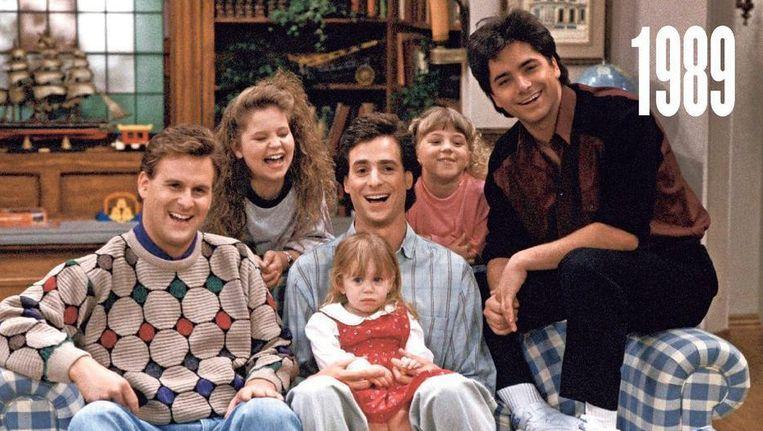 De cast van 'Full House' in 1989. Beeld Netflix