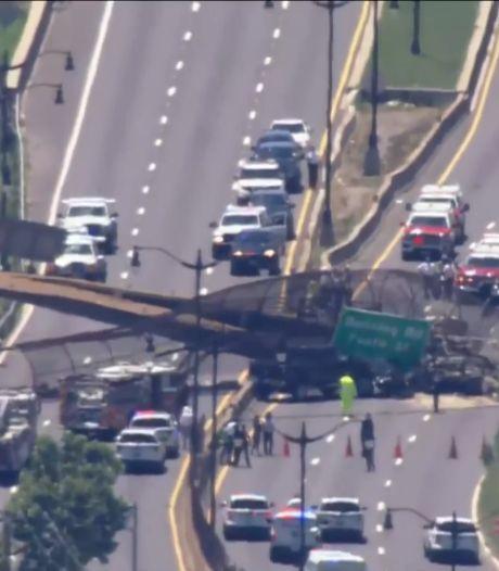 Un pont piétonnier s'effondre à Washington, 6 personnes blessées