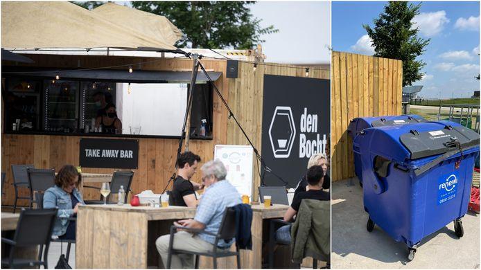 Vorige week opende Den Bocht haar deuren in het Droogdokkenpark. Vannacht al werd de bar gevandaliseerd.