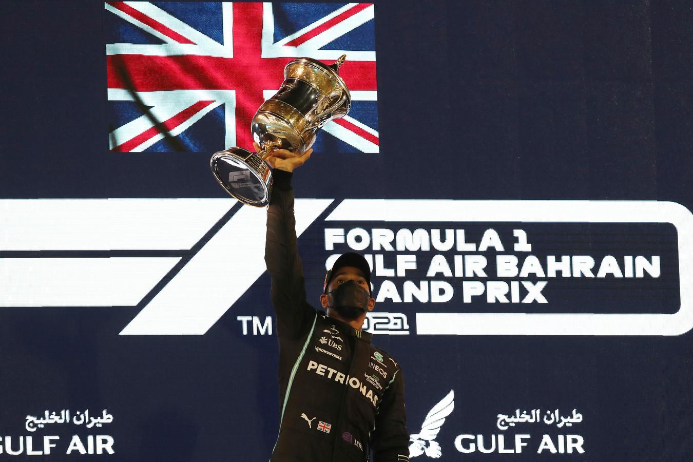 Lewis Hamilton, sur le podium, ce dimanche