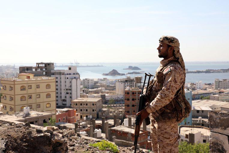 Een militair van de Zuidelijke Overgangsraad in Jemen.