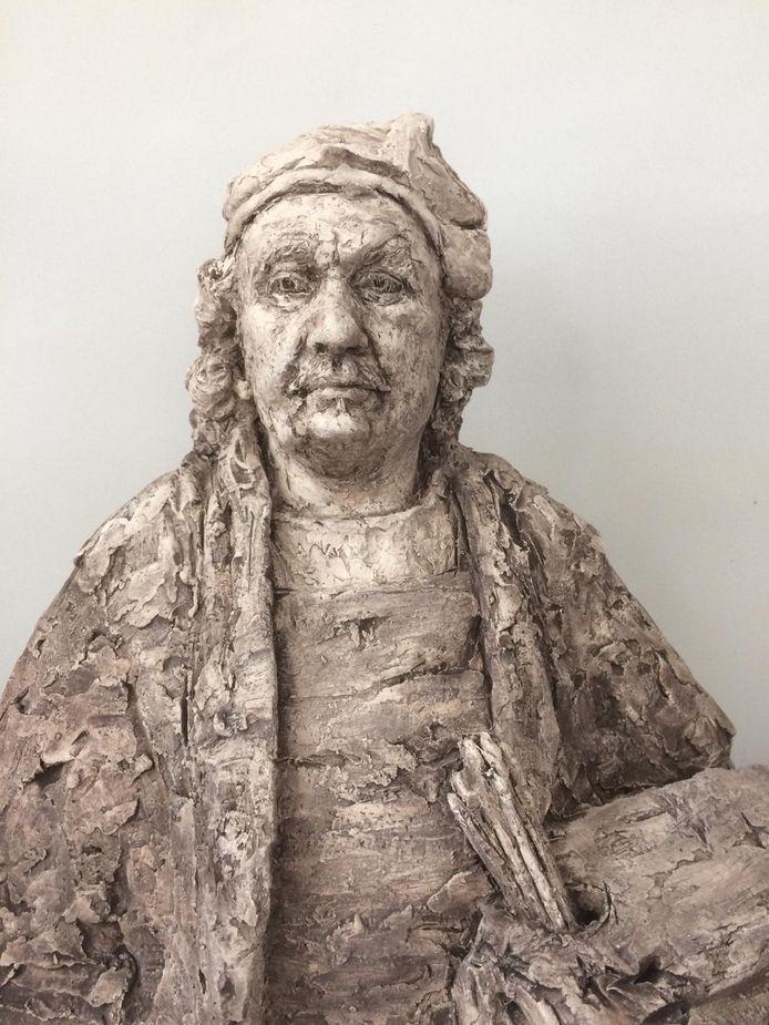 De buste die Ollo Feenstra van Rembrandt maakte is deze zomer in het Rijksmuseum te zien.