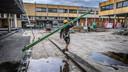De totaalrenovatie aan Het Pand startte in februari van dit jaar, en kost zo'n 17,5 miljoen euro. Intussen zijn de afbraakwerken zo goed als afgerond, vanaf nu wordt er enkel opnieuw opgebouwd.