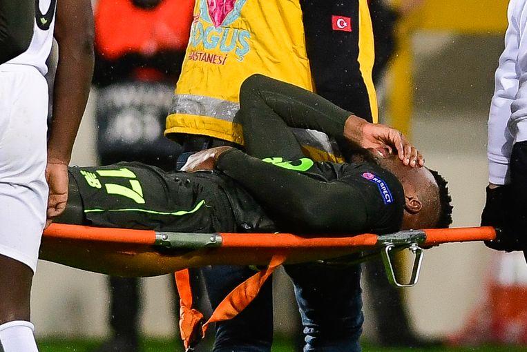 Oulare raakte in december opnieuw gekwetst in de Europa League.