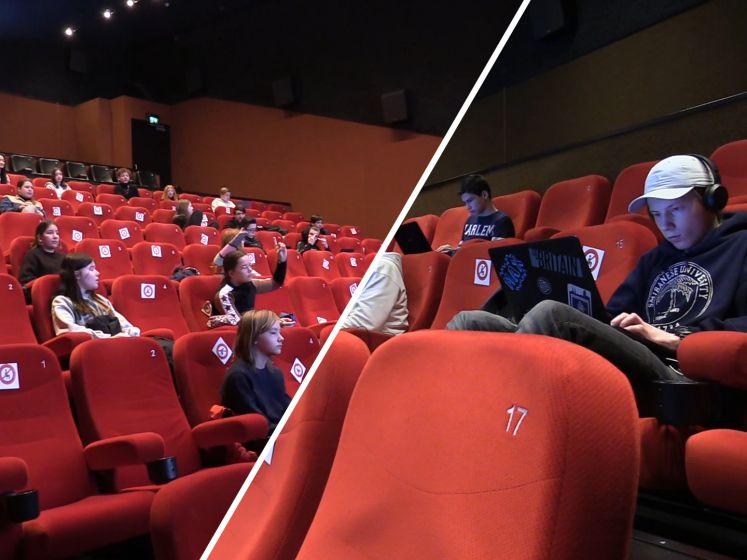 Deze scholieren krijgen les in de bioscoop: 'Zit wel lekker zo'