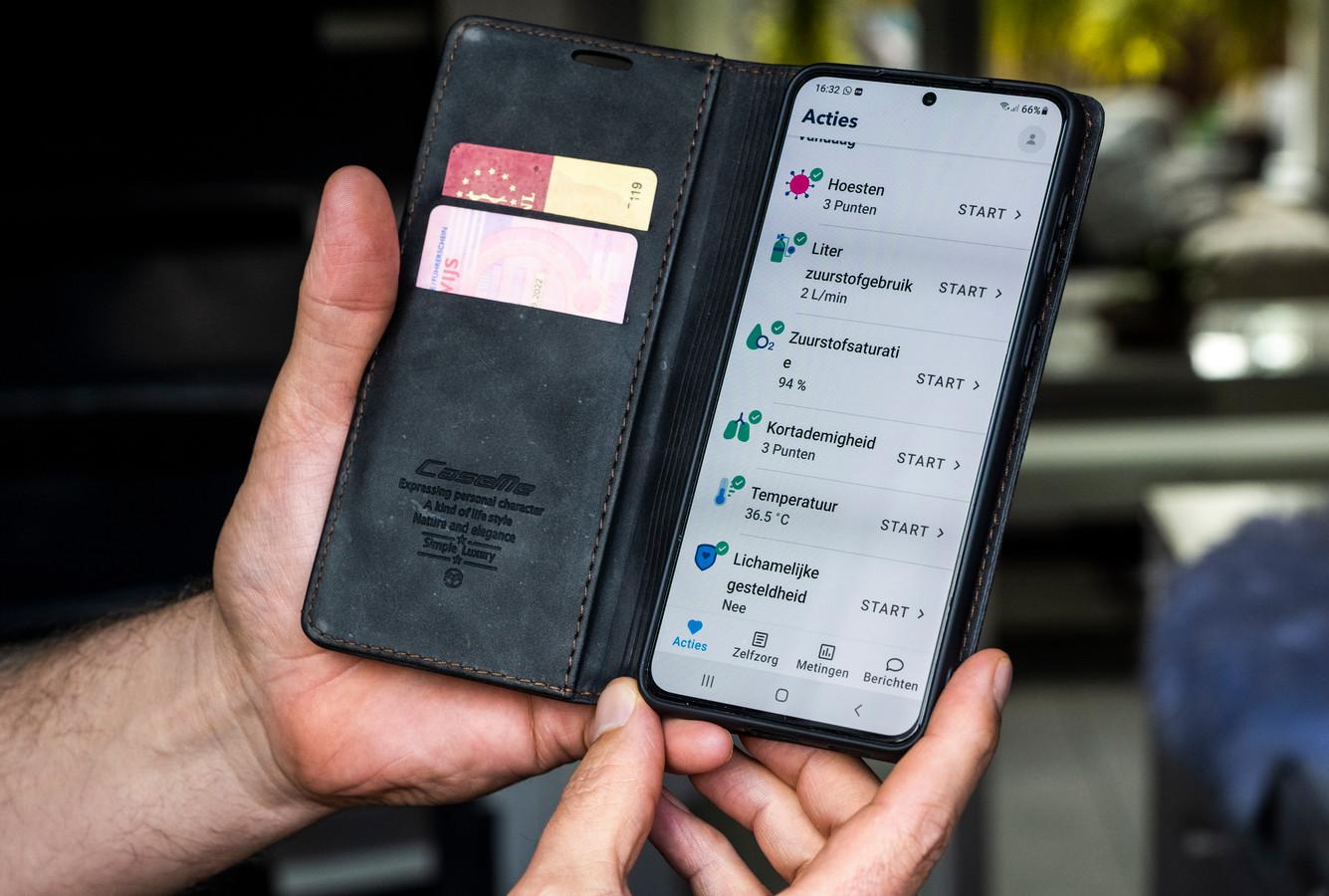 De app is makkelijk in te vullen, zeker voor jongere patiënten.