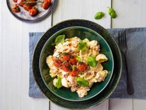 Wat Eten We Vandaag: Pasta met feta en tomaatjes uit de oven