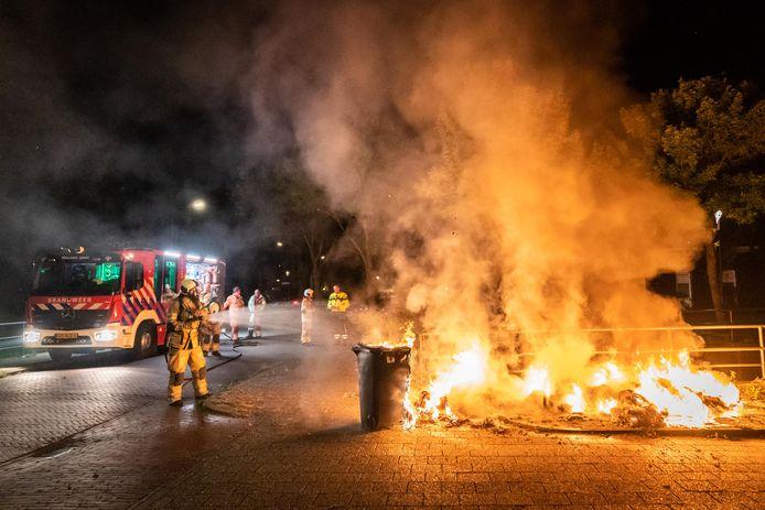 Een drukke nacht voor de brandweer in Houten