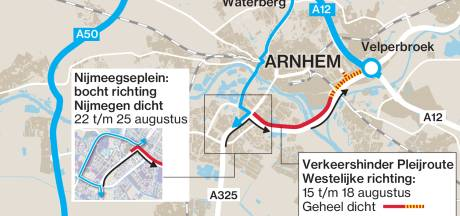 Verkeer in en om Arnhem loopt weer vast