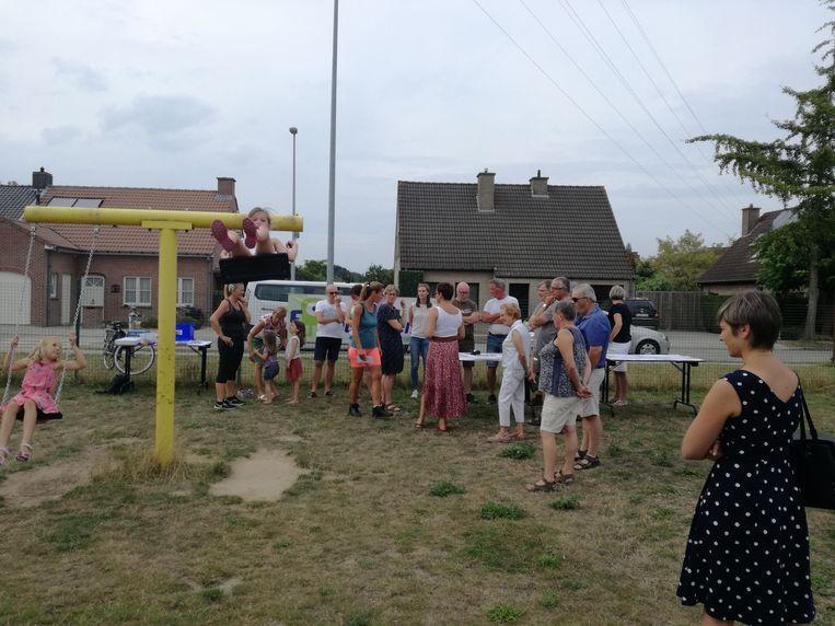 De kinderen van de Sint-Rafaëlswijk mochten mee hun mening geven over het nieuwe speelplein op die locatie.