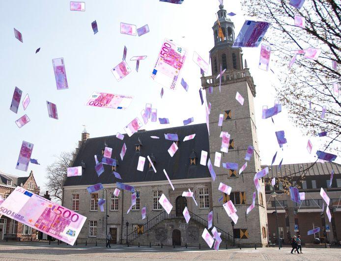 Stadhuis in Hulst, ook in 2020 is niet gestrooid met geld in Hulst, al is er wel flink geïnvesteerd.