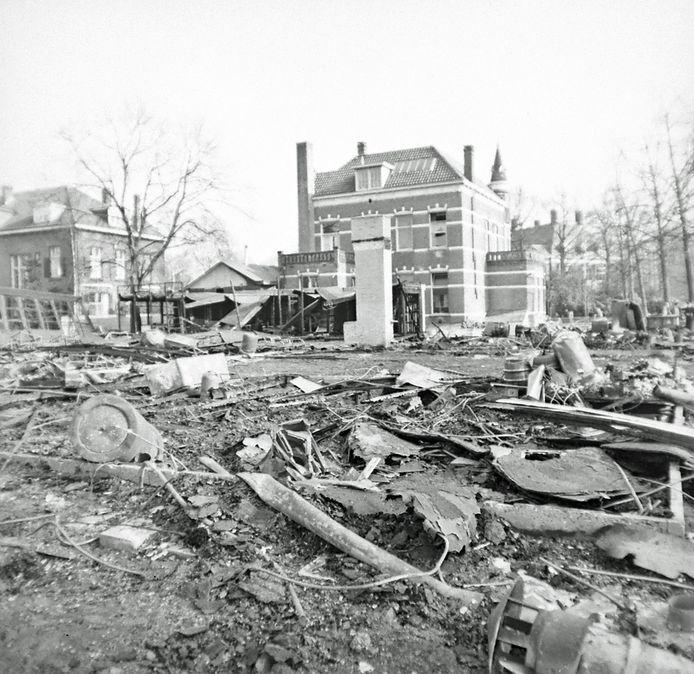 Een brand legde de studentensociëteit van Ilium in 1964 in as
