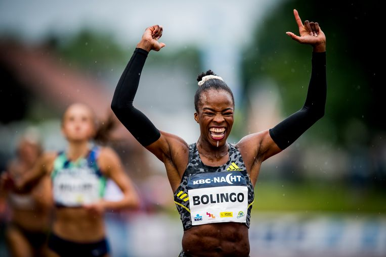 400 m-loopster Cynthia Bolingo. Beeld BELGA