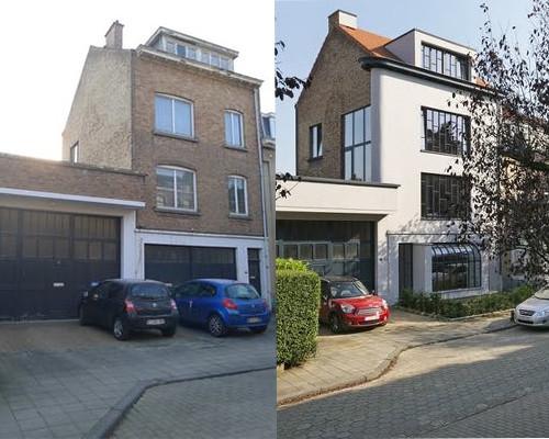 Het huis voor en na de renovatie