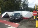 Een crash op de Kortrijkse ring betekende het einde van de achtervolging na een overval in Kuurne.