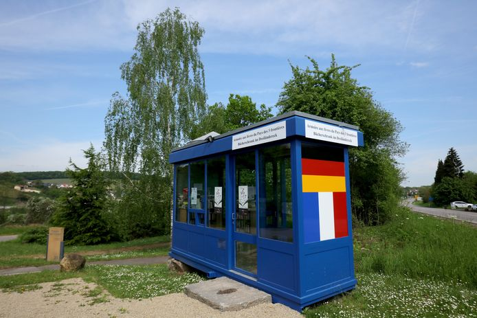 Een controlepunt op de grens tussen Duitsland en Frankrijk