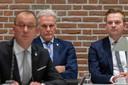 Burgemeester Theo Segers, wethouder Lucas Mulder, wethouder Alwin Mussche (vlnr).
