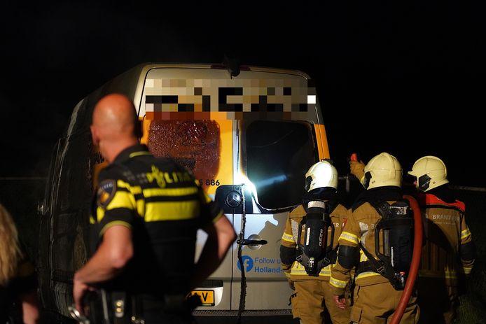 De hulpdiensten waren maandagaavond op camping Linberg Park in Molenschot te vinden.