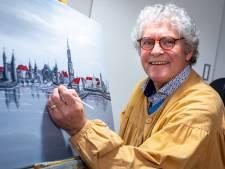 Prachtig! Kunstschilder Theo (70) priegelt de Koppelpoort en andere Amersfoortse monumenten op het doek