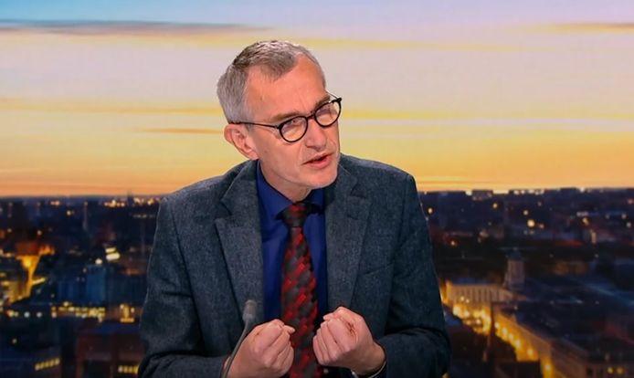 Federaal minister van Volksgezondheid Frank Vandenbroucke (Vooruit) was studiogast in het RTBF-journaal.