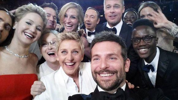 De selfie van Ellen DeGeneres veroverde vorig jaar razendsnel het internet.