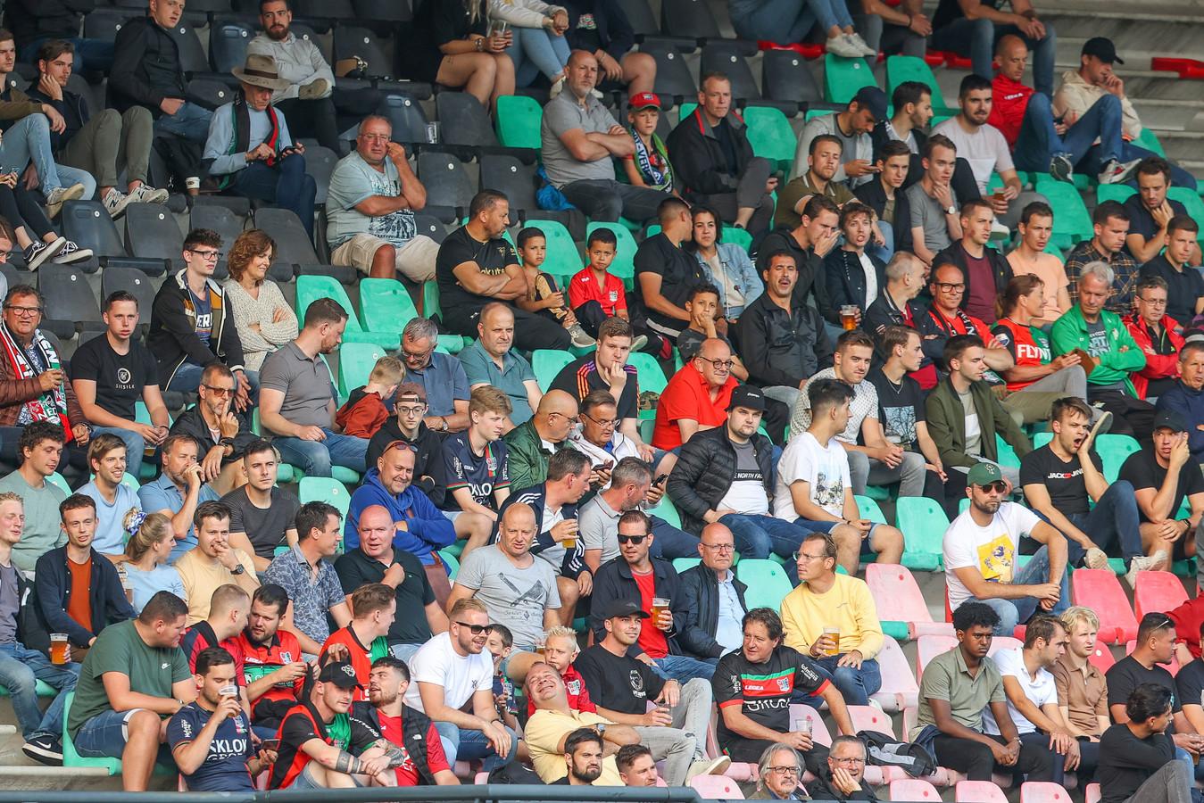 Goffertstadion tijdens de vriendschappelijke wedstrijd van NEC tegen Kreta.