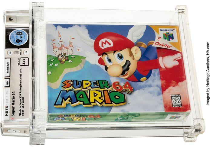 """Cette cartouche de """"Super Mario 64"""" date de 1996 et utilise pour la première fois la 3D."""