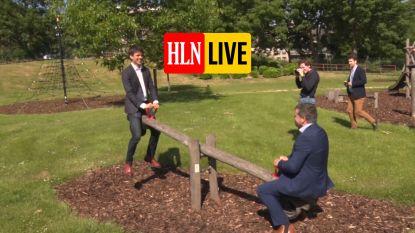 HLN LIVE. Ministers Benjamin Dalle en Bart Somers heropenen speeltuintje in Ganshoren