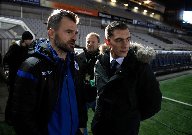 Ivan Leko met ref Jonathan Lardot.